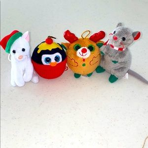 TY Christmas ornaments